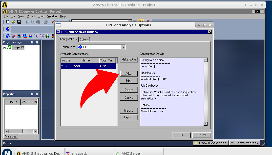 How to Load the Machines File in HFSS – Nimbix